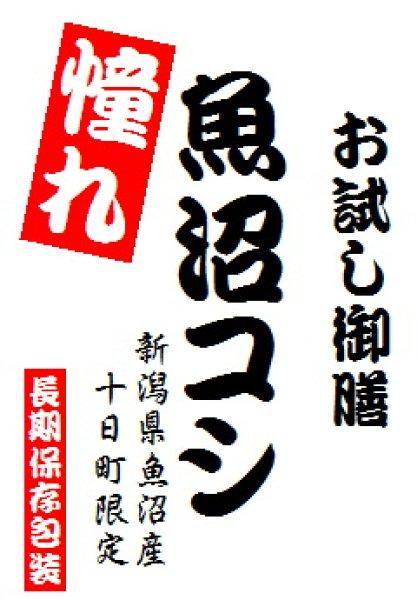 画像1: 【投函便】【投函便】 令和元年産 憧れの 魚沼産コシヒカリ 900gパック (1)